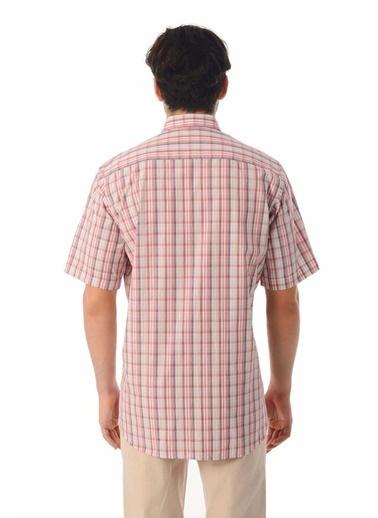 Hatemoğlu Kısa Kol Kareli Klasik Gömlek Kırmızı